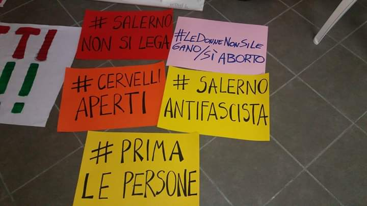 """Domani Salvini a Salerno: c'è anche la manifestazione """"contro"""""""