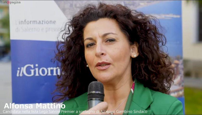Prim@Pagina. Alfonsa Mattino in campo con Alberico Gambino sindaco con la lista Lega – Salvini Premier.