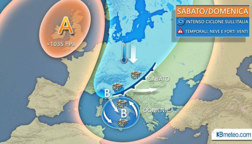 Meteo: domani temporali anche forti al Nord, domenica tocca al Centrosud con generale calo delle temperature e venti localmente forti