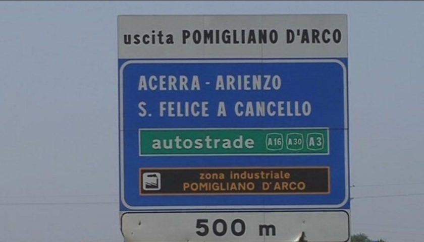 Autostrada A16: chiusa la stazione di Pomigliano, in entrata verso Canosa e in uscita per chi proviene da Napoli