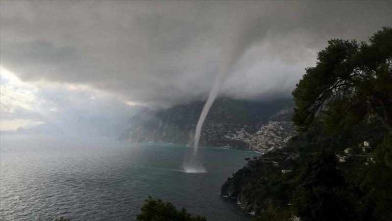 Tromba d'acqua in Costiera Amalfitana: subbuglio tra Ravello, Maiori e Raito
