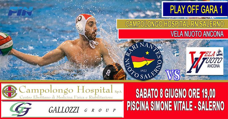 Al via i Play Off promozione, la Rari Nantes Salerno ospita la Vela Nuoto Ancona