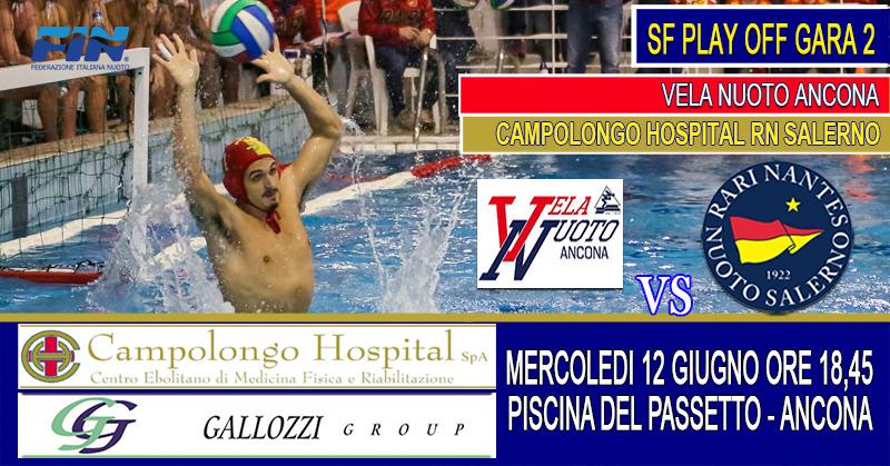 Play Off promozione: Domani la Rari Nantes Salerno di scena ad Ancona per gara 2 delle semifinali