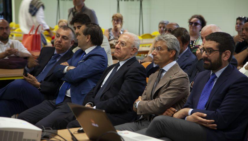 Il Governatore De Luca alla mensa e alle residenze del Villaggio Olimpico di Fisciano