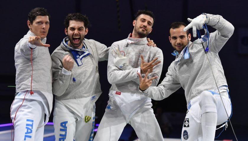 Campionati Europei Dusseldorf2019, sciabola maschile a squadre: medaglia di bronzo per il napoletano Luca Curatoli