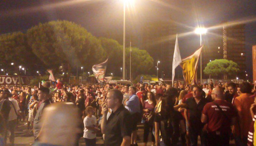Ieri sera tantissimi tifosi alla Festa del Centenario allo Stadio Arechi