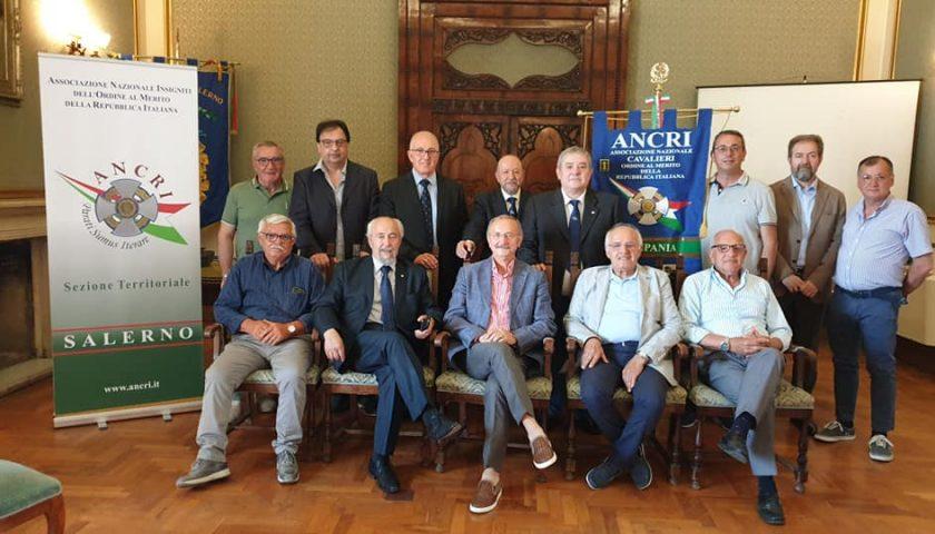 Costituita a Salerno la sezione dell'ANCRI, l'Associazione Nazionale Insigniti dell'Ordine al Merito della Repubblica Italiana