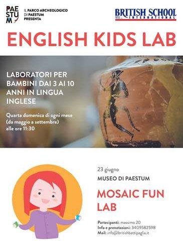 A Paestum l'archeologia parla inglese, laboratori gratuiti per bambini