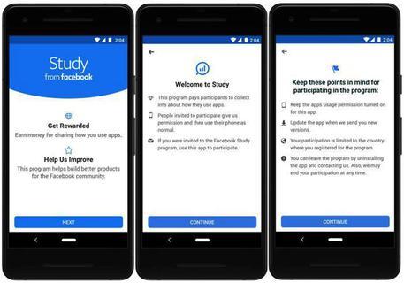 Facebook paga gli utenti per condivisione dati su uso app