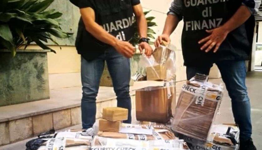 Da Nocera a Palermo: 200 chili di hashish messi nei pacchi postali