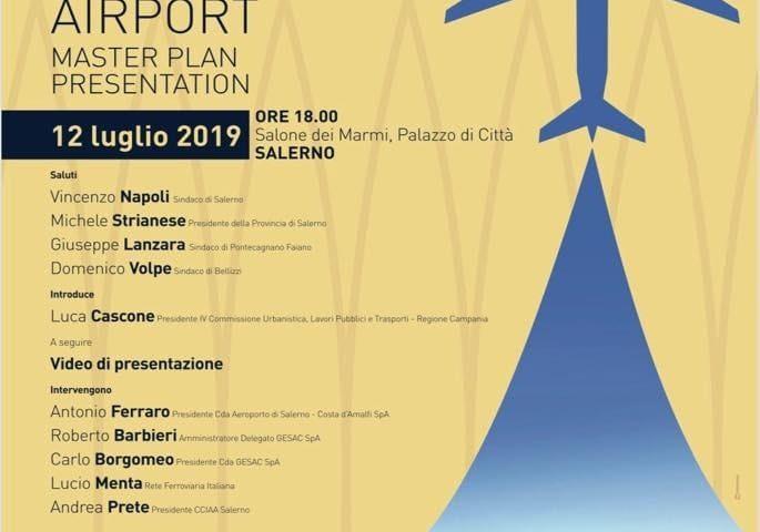 Presentazione del Master Plan dell'Aeroporto di Salerno