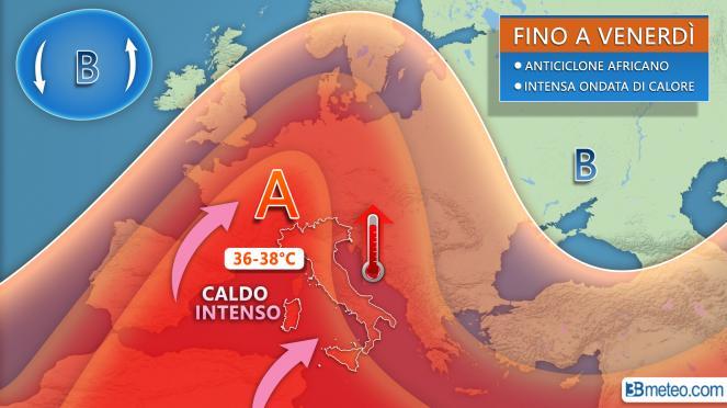 Protezione Civile Campania: domani e giovedì rischio ondate di calore