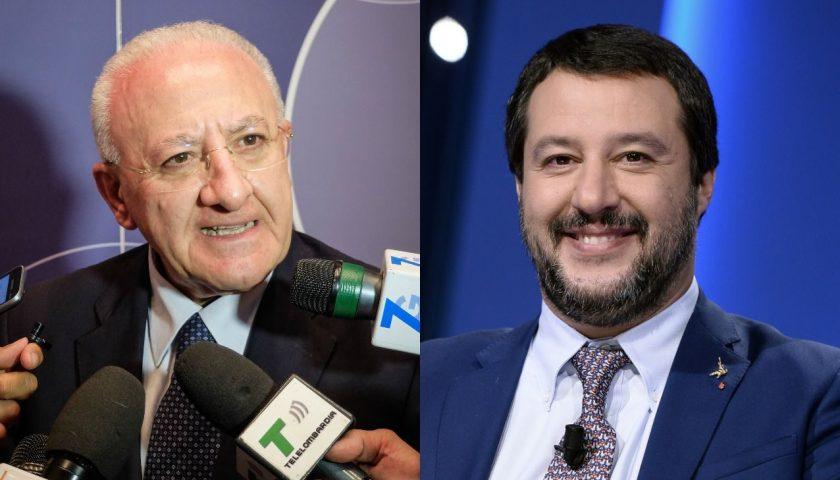 """De Luca: """"Salvini, tra un tweet e l'altro, ci vuole dire o no quando intende istituire un posto di polizia all'ospedale San Giovanni Bosco?"""""""