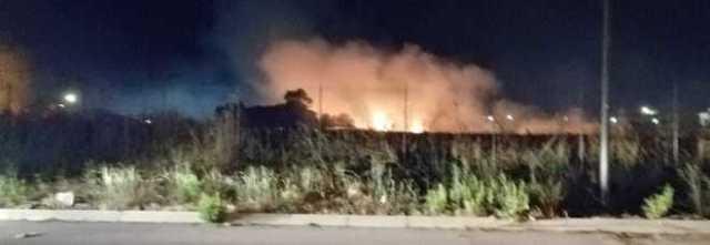 Incendio nella zona industriale a poche ore dall'arrivo del ministro