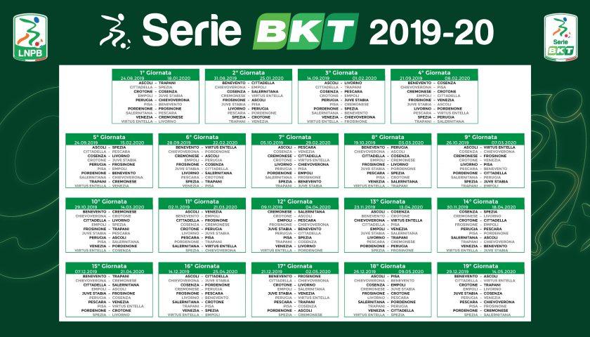 Serie A Calendario 7 Giornata.Calendario Serie Bkt 2019 2020 In Unico Foglio Il Giornale