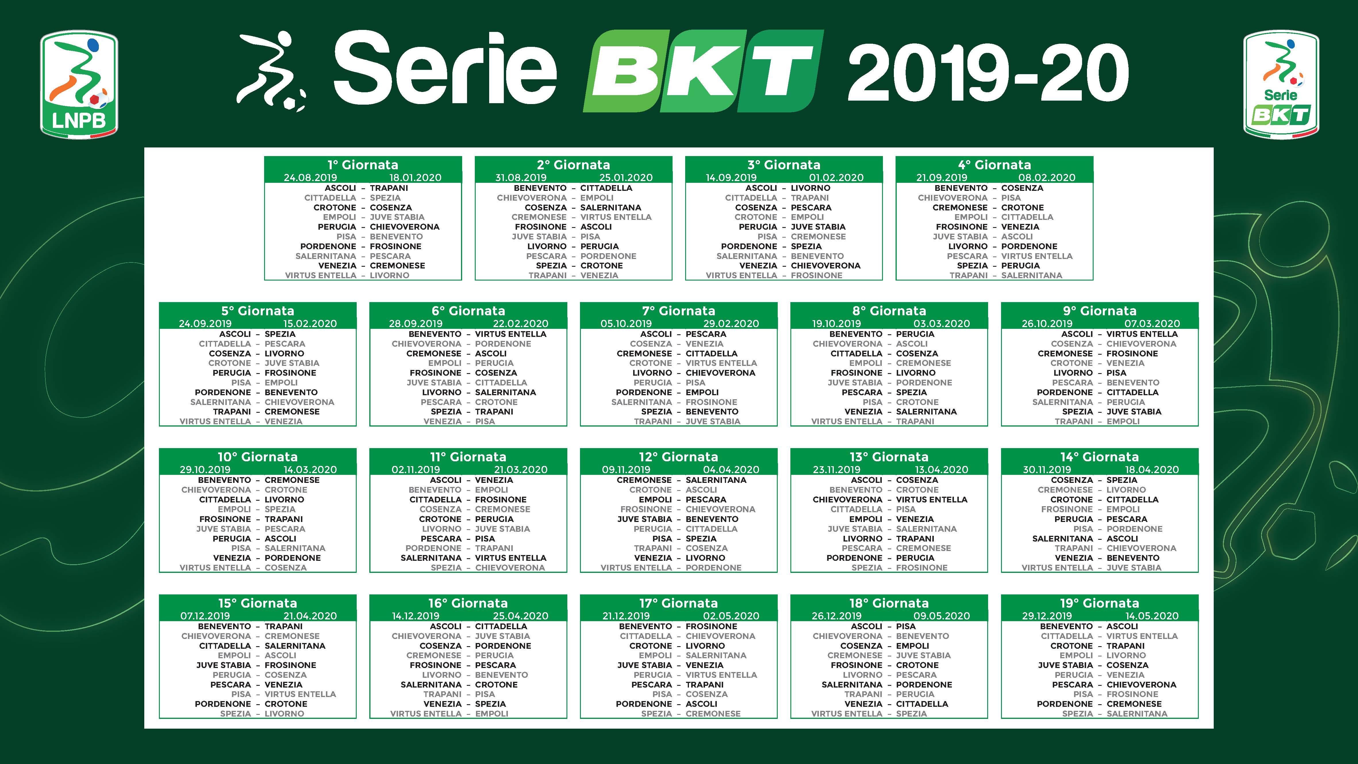 Calendario Playoff Serie B.Calendario Serie B Esordio All Arechi Contro Il Pescara Per
