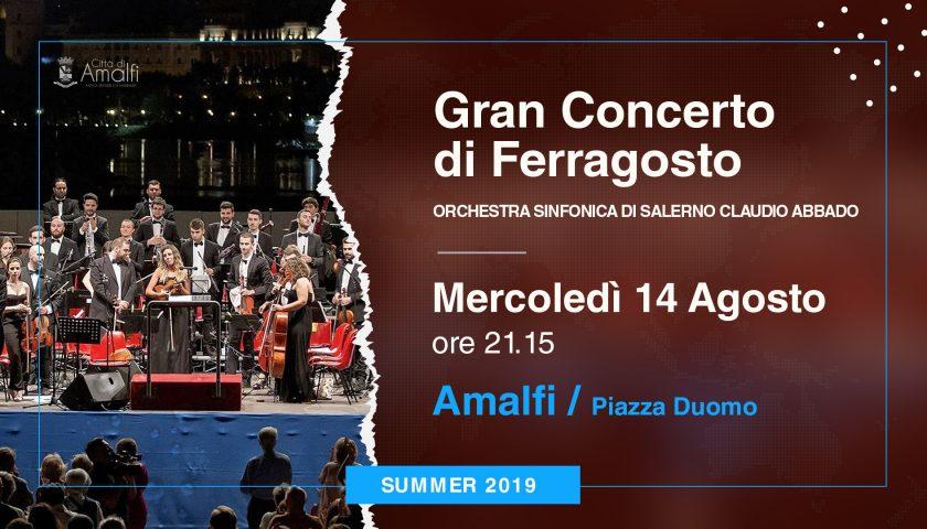 Amalfi: stasera il Gran Concerto di Ferragosto con l'Orchestra Sinfonica Claudio Abbado in piazza Duomo