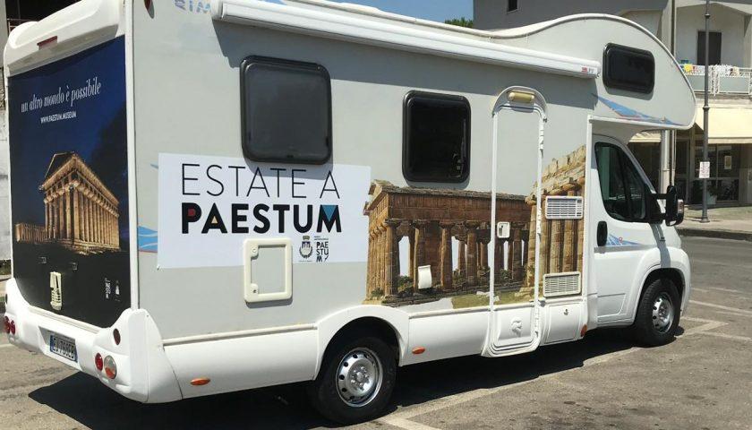 Paestum on the road: parte il tour del Parco e del Comune di Capaccio a bordo di un camper con la promozione 2×1