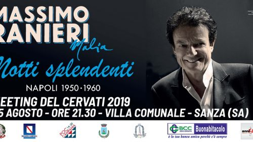 """L'AFFASCINANTE """"MALIA"""" DI MASSIMO RANIERI CHIUDE DOMENICA IL MEETING DEL CERVATI 2019"""