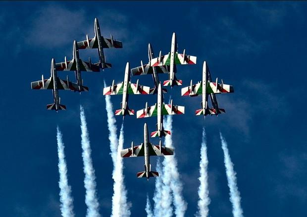 Frecce Tricolori in volo a Rimini il 1 settembre