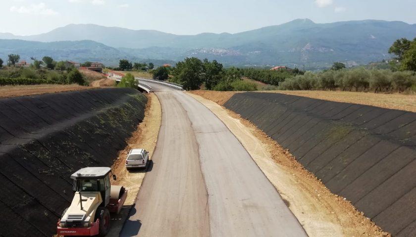 Provincia, quasi ultimati i lavori della Fondovalle Calore, primo lotto