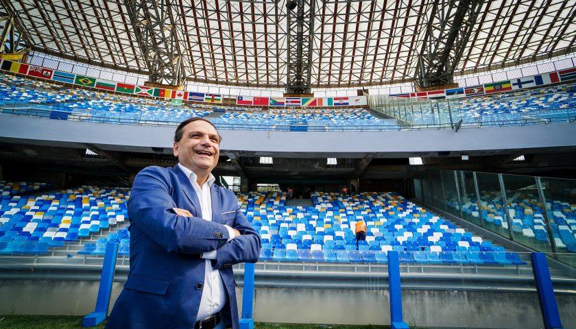 """Universiade, completato il montaggio dei seggiolini al San Paolo. Basile: """"Orgogliosi del nuovo volto dato all'impianto"""""""