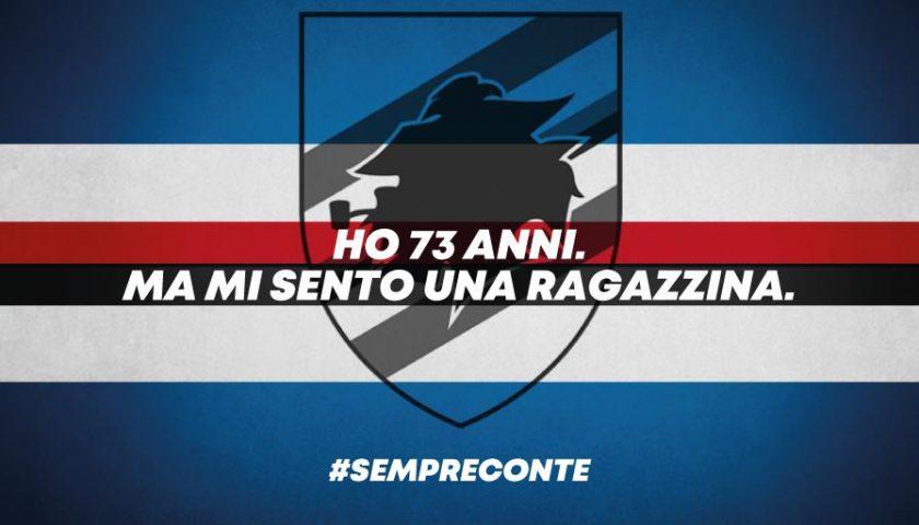 "Tanti auguri Sampdoria: ""Ho 73 anni, ma mi sento una ragazzina…"""