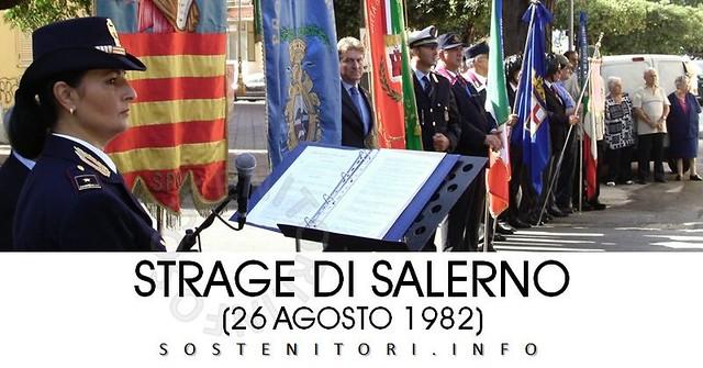 Lunedì 26 agosto la commemorazione degli Agenti della Polizia di Stato De Marco e Bandiera e del Caporale dell'Esercito Palumbo