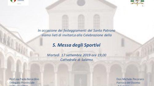 Questa sera al Duomo di Salerno c'è la Messa degli Sportivi