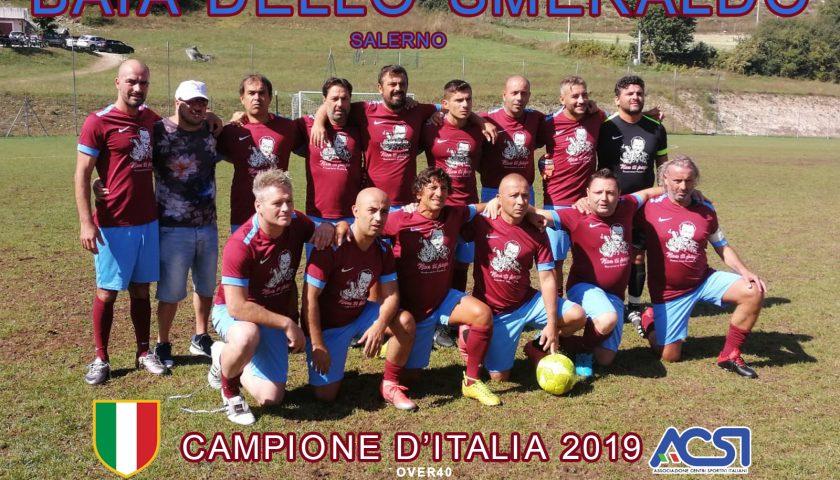 Calcio Acsi: i salernitani del Baia dello Smeraldo campioni d'Italia Over 40