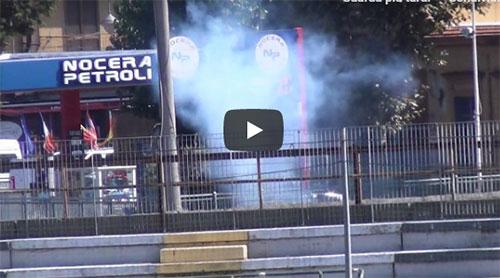 Nocerina-Foggia: scontri all'esterno dello stadio prima della gara