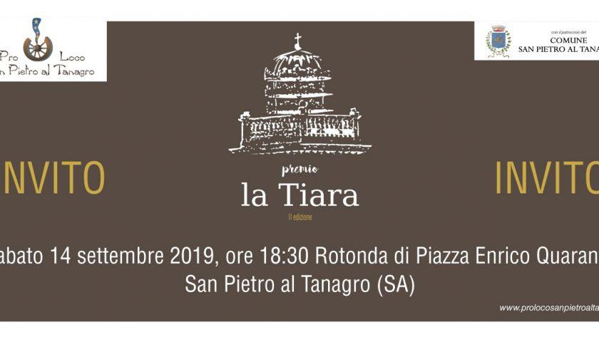 """San Pietro al Tanagro: Domani la II edizione del premio """"La Tiara"""""""