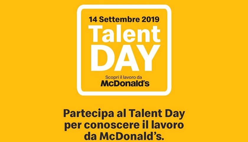 McDonald's: anche a Nocera Superiore arriva il Talent Day