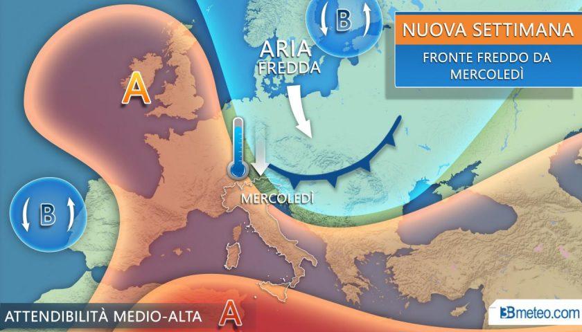 Meteo: fino a domani caldo estivo, da mercoledì brusco calo termico e pioggia