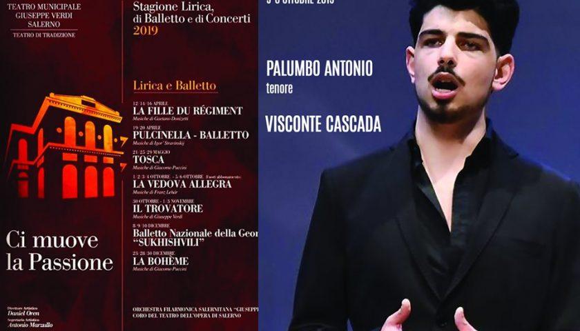 """Stasera esordio da solista al Teatro Verdi per il giovane tenore salernitano Antonio Palumbo con """"La Vedova Allegra"""""""