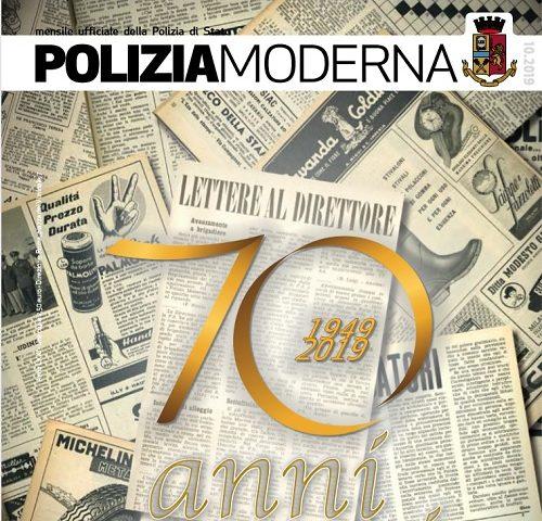 70° anniversario di Poliziamoderna, la rivista ufficiale della Polizia di Stato