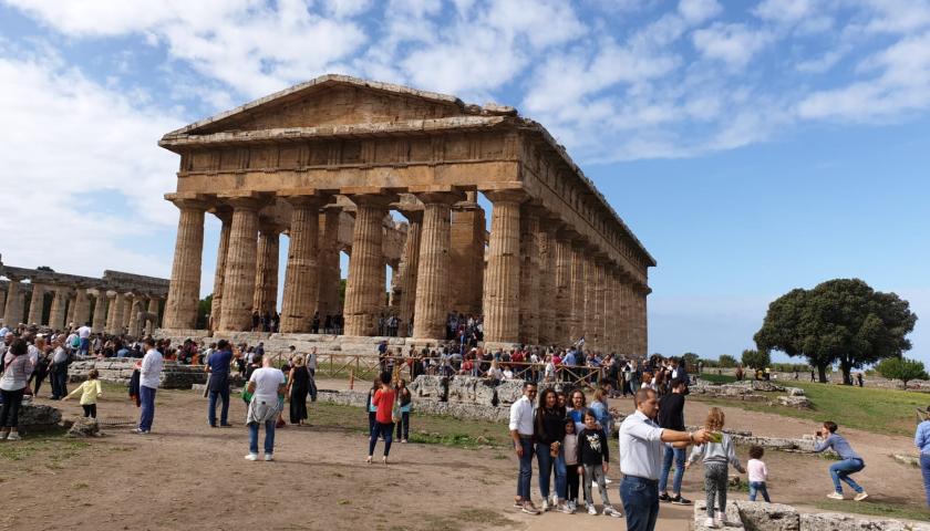 Prima domenica da record assoluto a Paestum