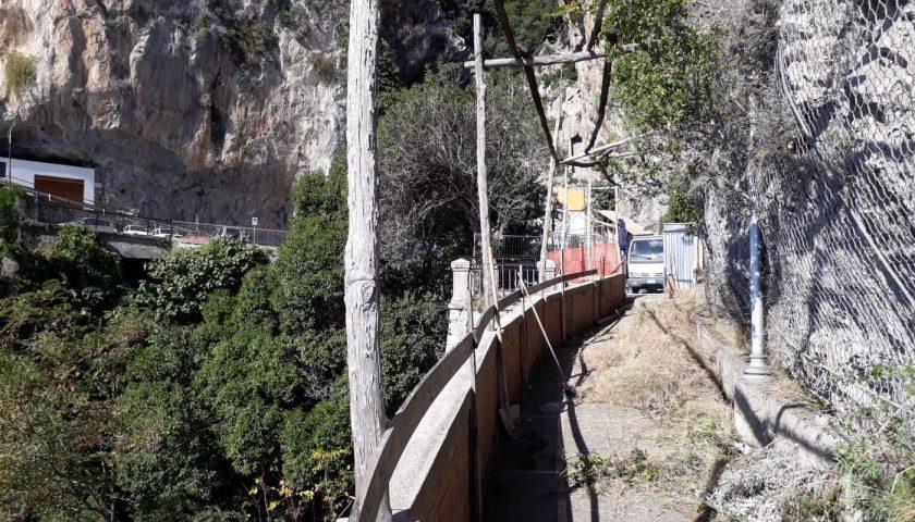 Amalfi, al via i lavori per riaprire la passeggiata panoramica Longfellow
