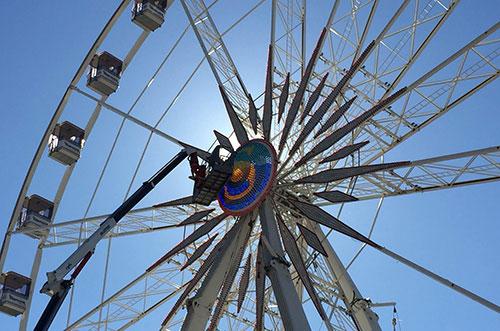 Salerno: domani inizia il montaggio della grande ruota panoramica