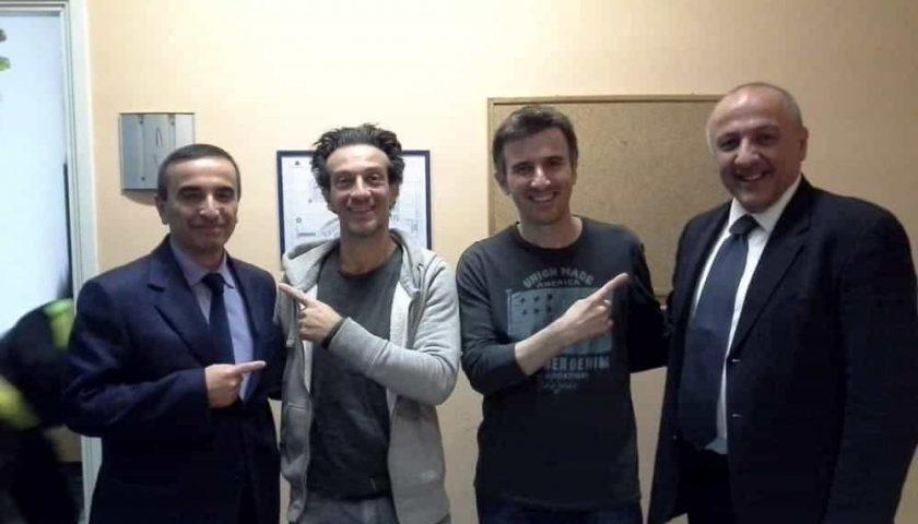 Ficarra e Picone a Salerno per incontrare i loro omonimi in Questura