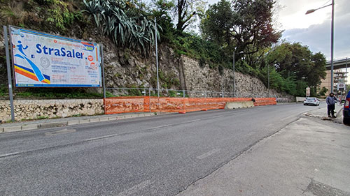 Messo in sicurezza il costone franato in via Demetrio Moscato a Salerno