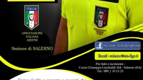 L'A.I.A. sezione di Salerno indice un corso per Arbitri di Calcio
