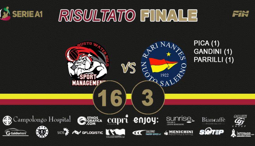 La Rari Nantes Salerno cede contro lo Sport Management
