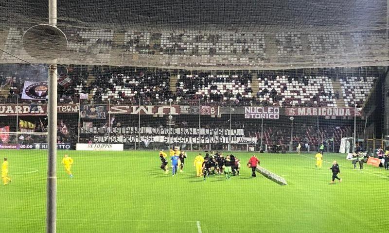 Alla Salernitana non basta l'orgoglio, con l'Ascoli finisce in parità