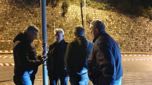 Salerno: smottamento in via Demetrio Moscato