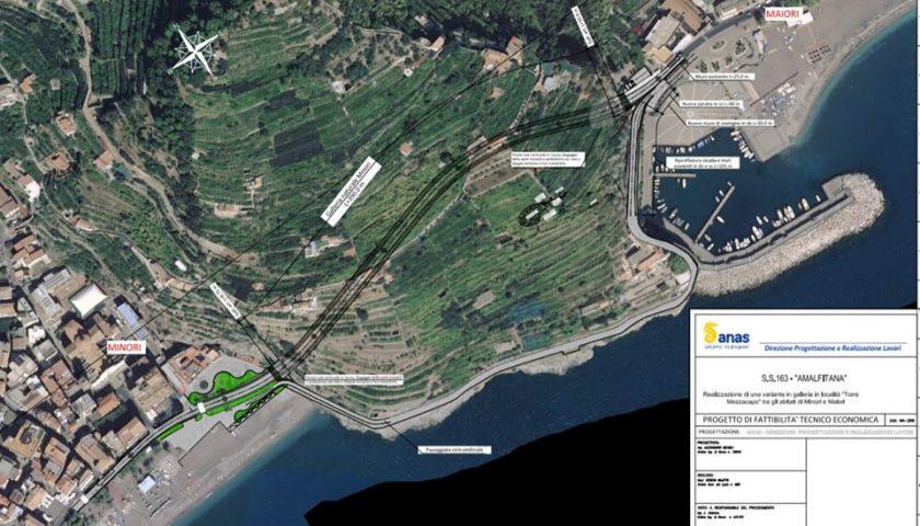 Costiera Amalfitana, galleria tra Maiori e Minori: al via la Conferenza dei Servizi per l'approvazione del progetto