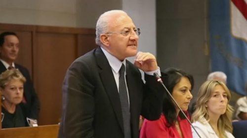 Covid 19, nuova ordinanza del Governatore De Luca sulle restrizioni in Campania