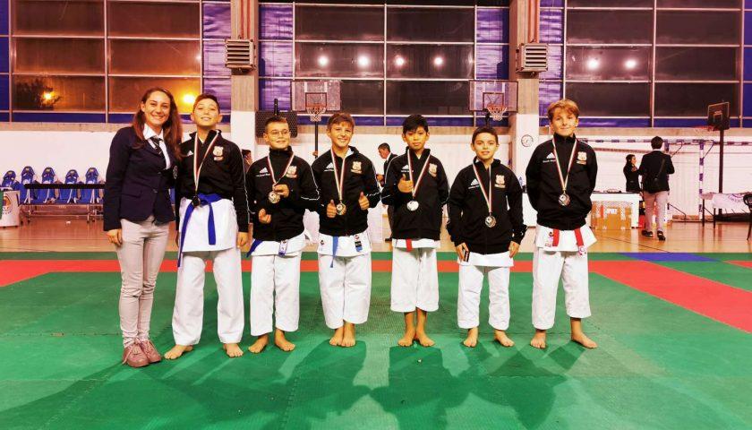 """Coppa Italia """"Libertas"""", incetta di medaglie per il Karate Poseidon"""