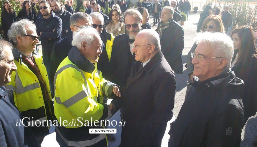 """Opere pubbliche a Salerno, De Luca, """"Fossimo nella Repubblica Popolare Cinese le avremmo già finite!"""""""