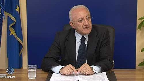 """De Luca: """"L'obiettivo è rendere la Campania del tutto autonoma nel ciclo della gestione di rifiuti"""""""